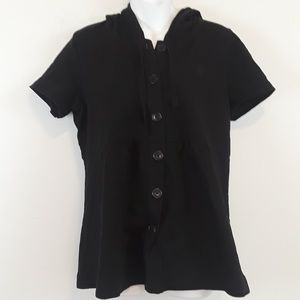 Polo jeans company black button down hoodie